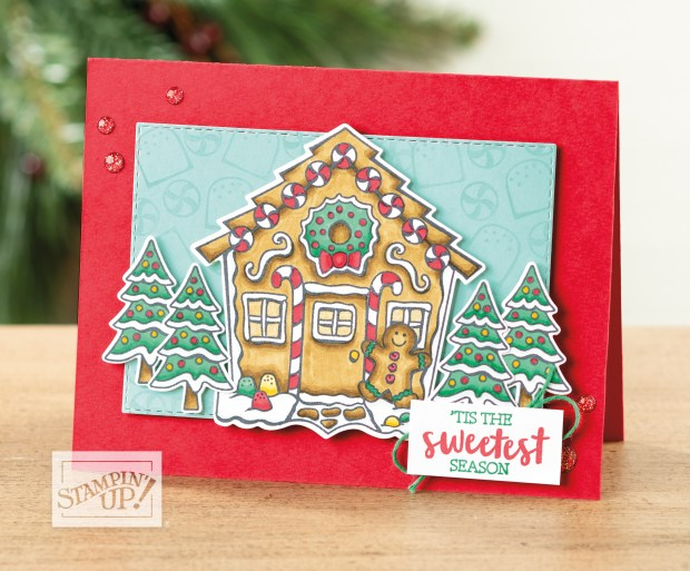 Sample of Yummy Christmas Card in Stampin' Up Holiday Catalog p23