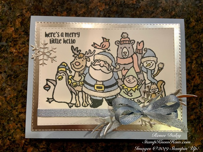 Christmas Crowd Card featuring subtle coloring and using Stamps by Stampin' Up!
