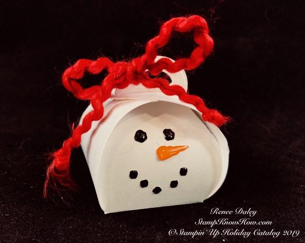 Mini Curvy Keepsakes snowman box