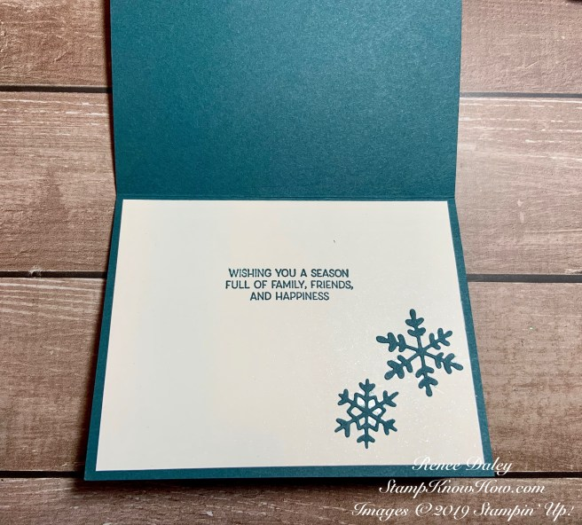 Frosted Foliage Bundle Card uses Stampin' Up products