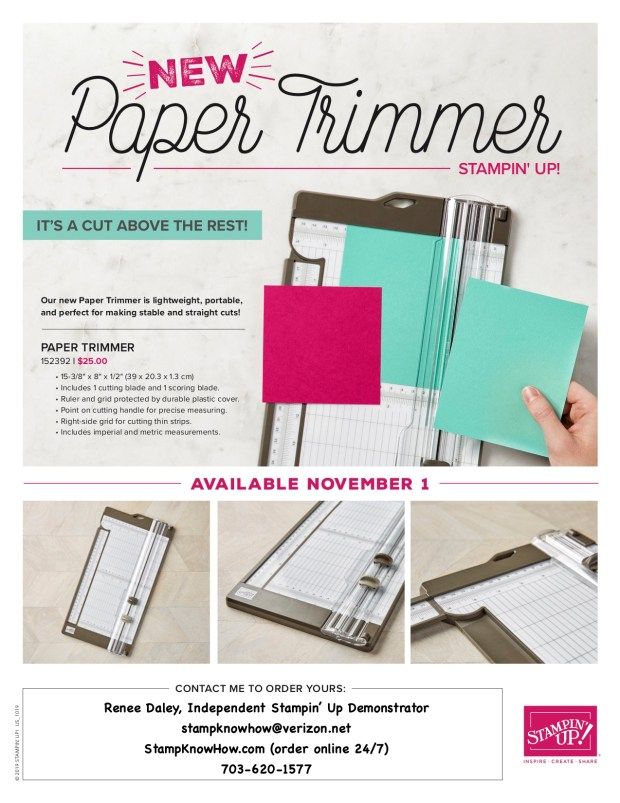 Stampin' Up Paper Trimmer Flyer