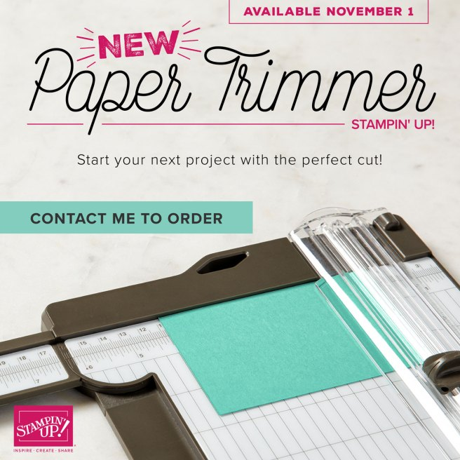 New Stampin' Up Paper Trimmer is available to order