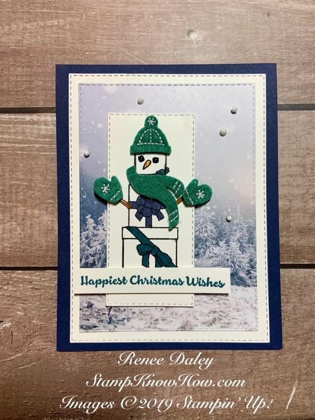 Lots of Cheer Snowman Card