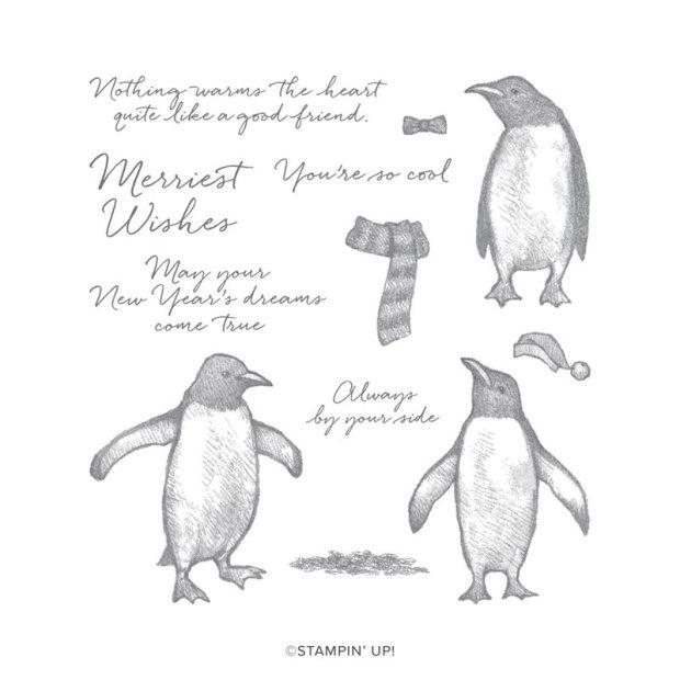 Image of Stampin' Up Playful Penguins Stamp Set