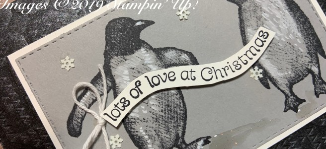 Image of Playful Penguins Christmas Card