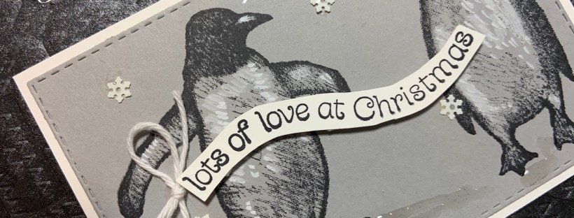 Image of Playful Penguins Christmas Card