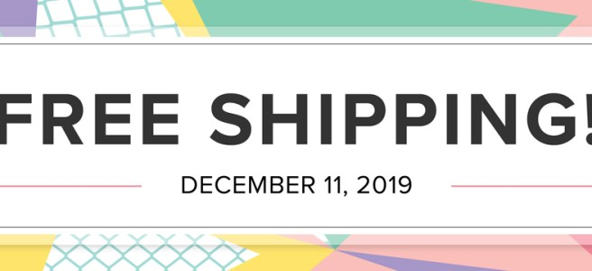 Free Shipping from Stampin' UP on December 11th!