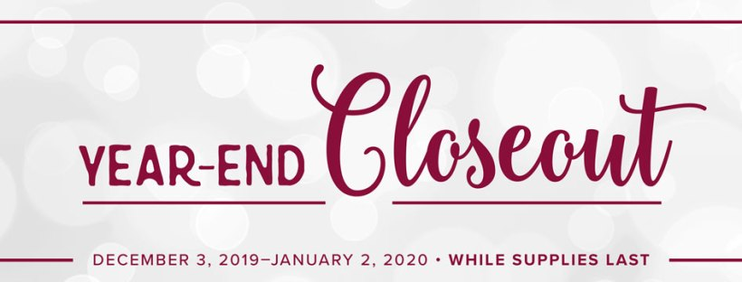 Year End Closeout Sale for Stampin UP