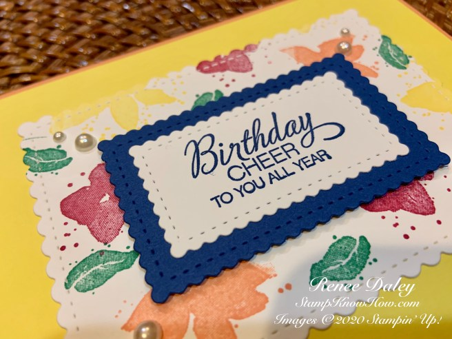Close up Image of Parcels & Petals Birthday Card