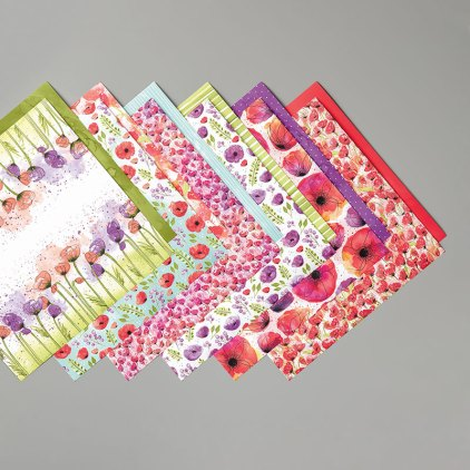 Peaceful Poppies DSP by stampin up