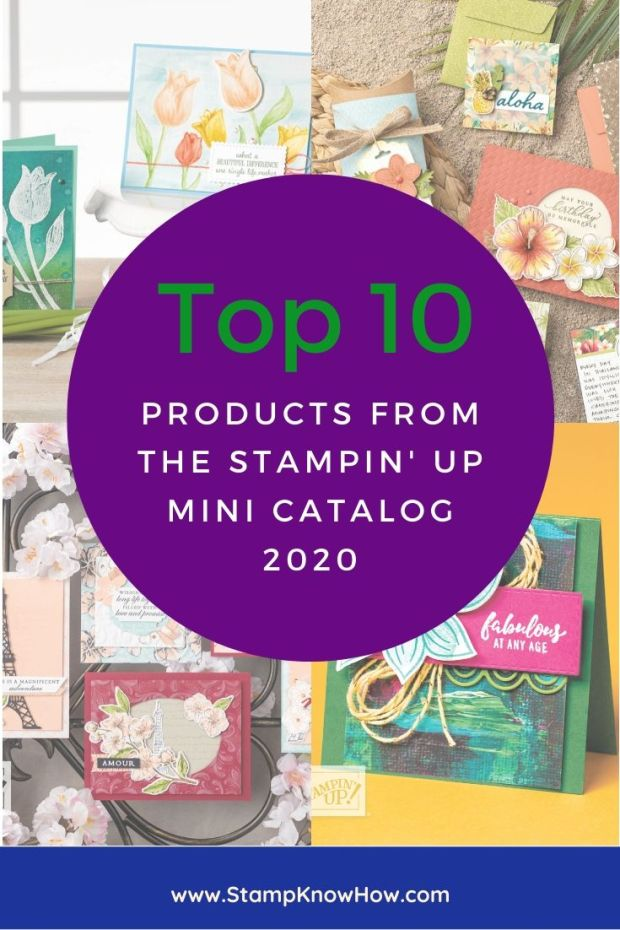 Top Ten products from the Stampin' Up mini catalog 2020