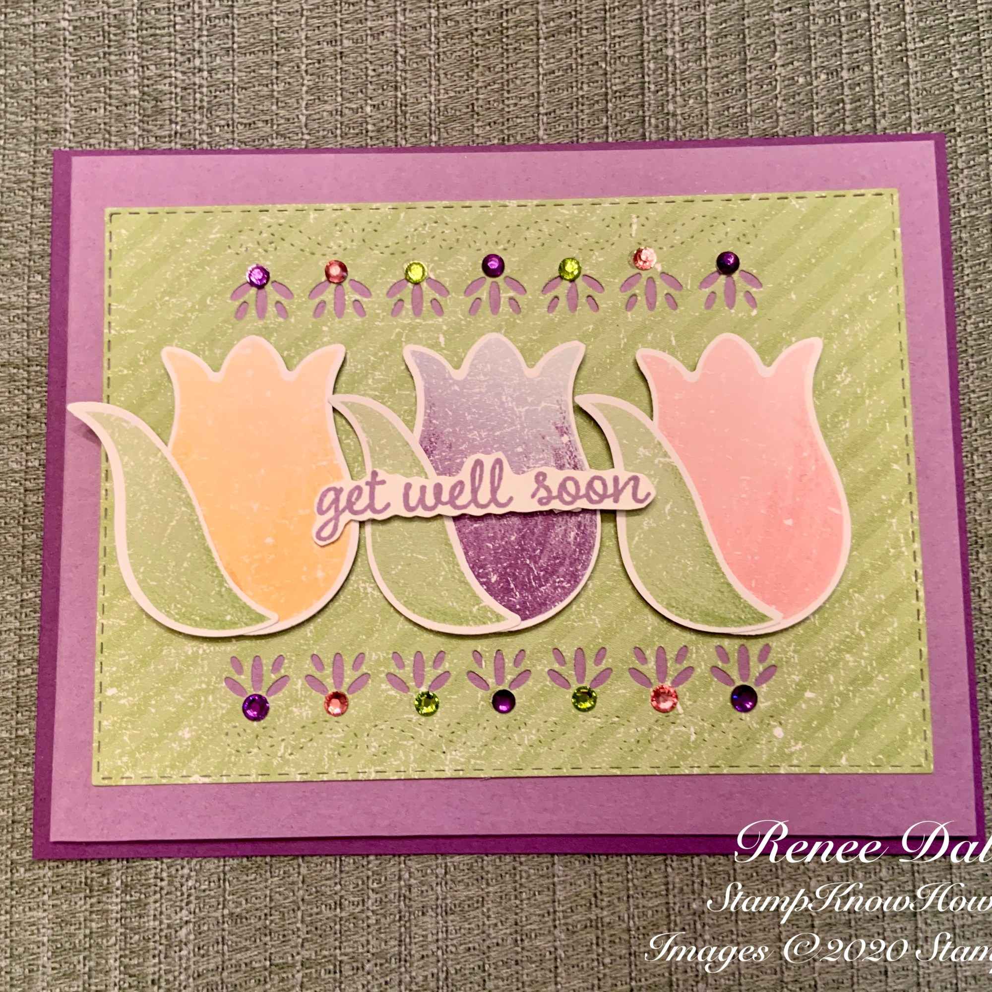 Timeless Tulips Get Well Card