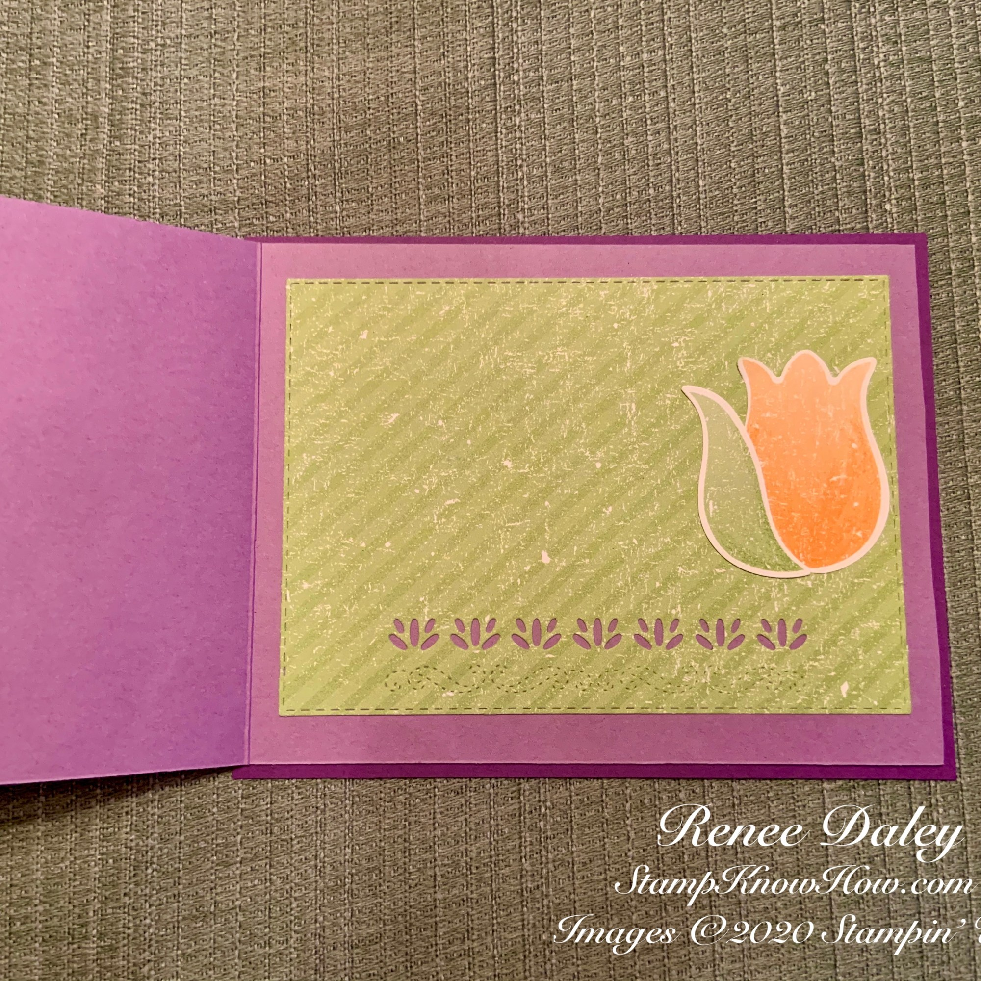 Timeless Tulips Get Well Card Inside View