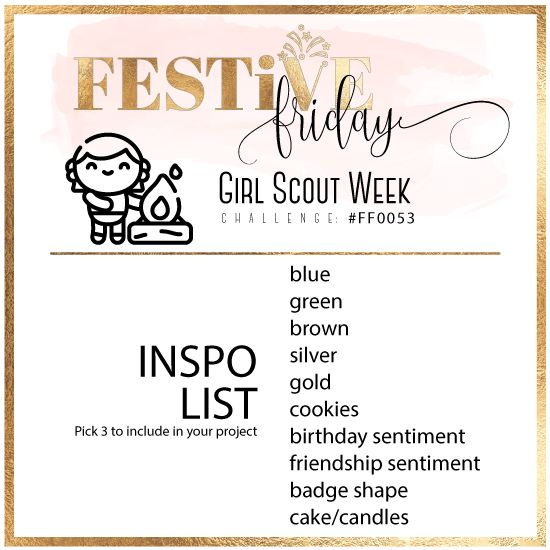 Festive Friday Challenge #FF0053 Girl Scout Week