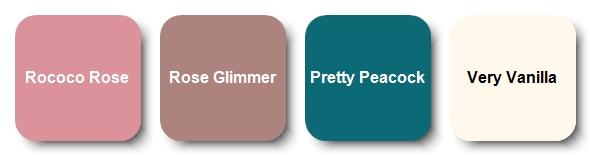 Sentimental Rose Alternative Card Color Combo