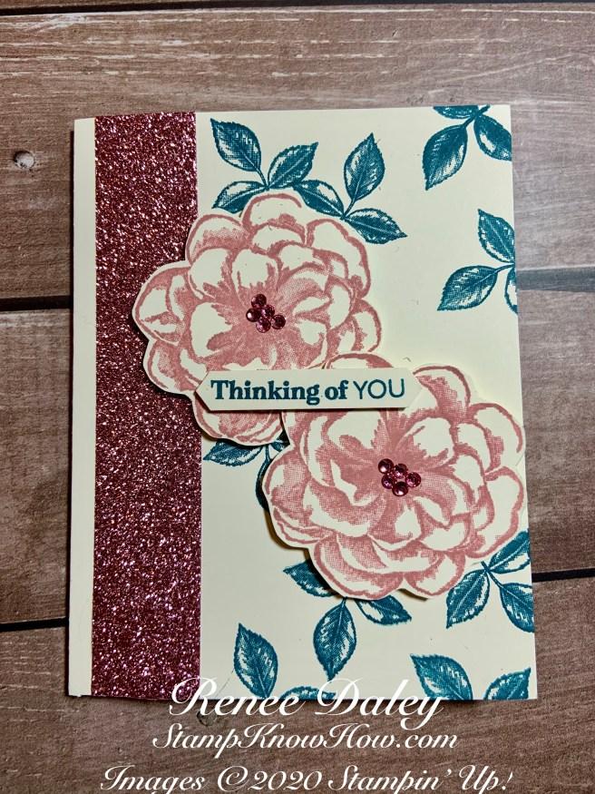 Sentimental Rose Paper Pumpkin Kit Alternate Idea Card (April 2019)