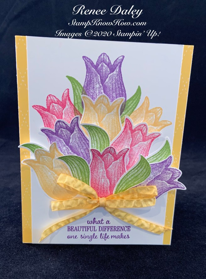 Timeless Tulips Spring Bouquet Card