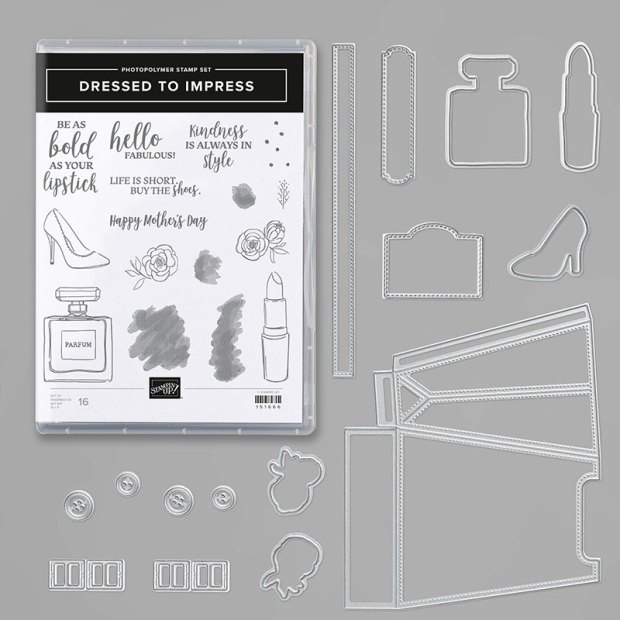 Image of the Dressed to Impress Bundle by Stampin Up