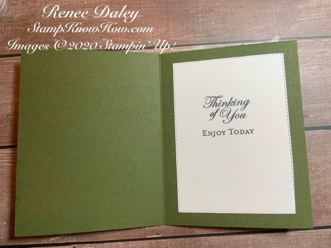 Inside view of the Good Morning Magnolia Birthday Card