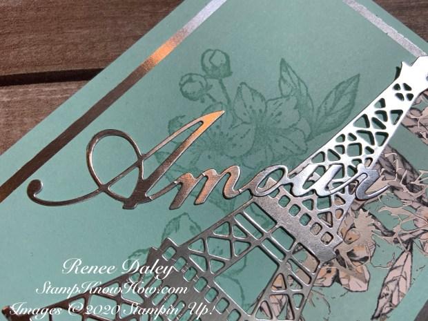 Parisian Blossoms Wedding card closeup image
