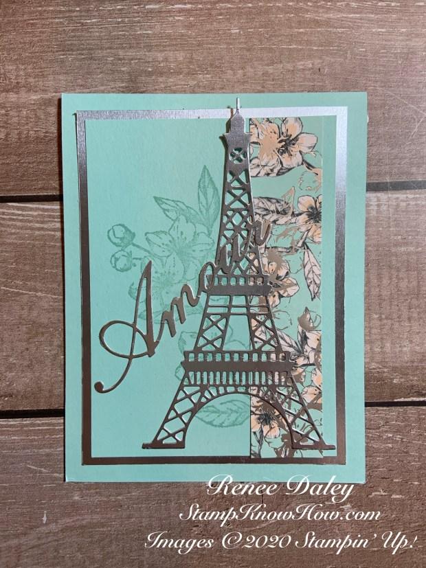 Parisian Blossoms Wedding card  image