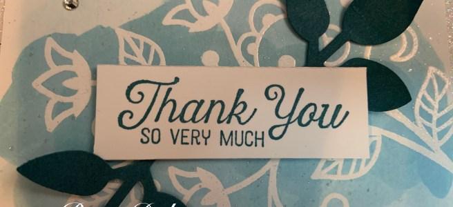 Flourishing Phrases Thank You Card