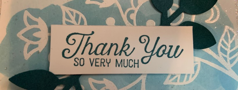 Flourishing Phrases Thank You Card