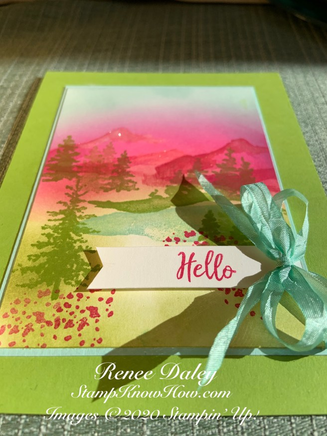 Snow Front Hello card image