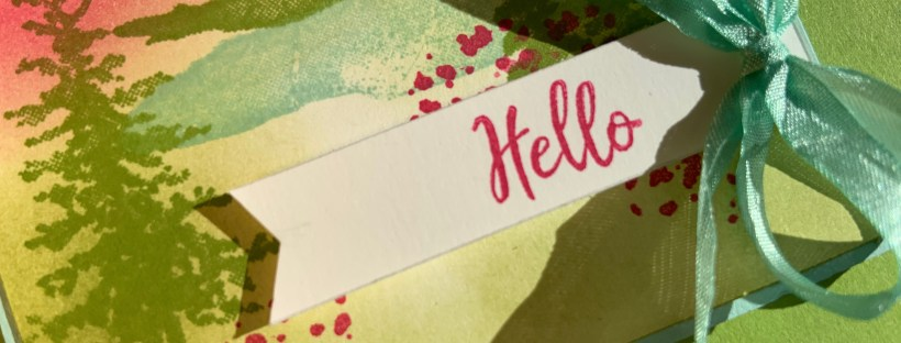 Close up image of the Snow Front Hello Card