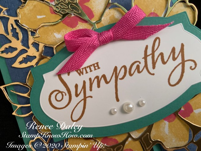 Closeup Image of the Blossoms in Bloom Sympathy Card