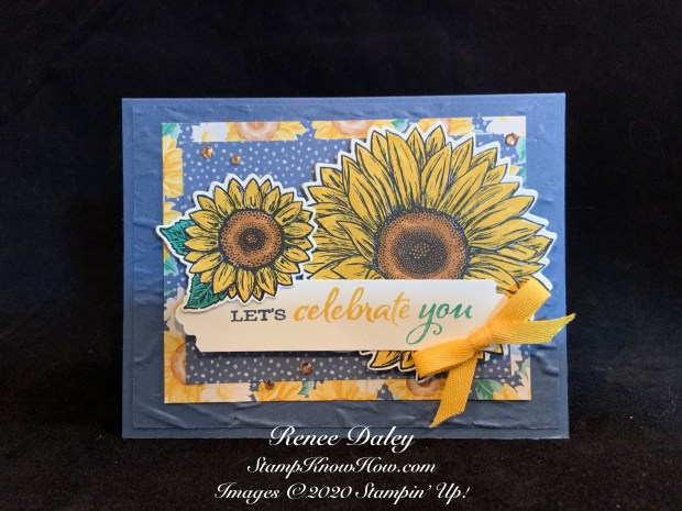 Celebrate Sunflowers Bundle Sample Card Image