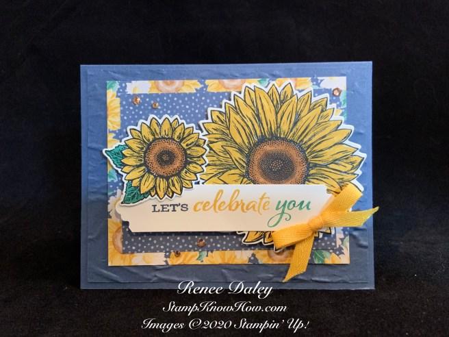 Celebrate Sunflowers Bundle Sample Card Image