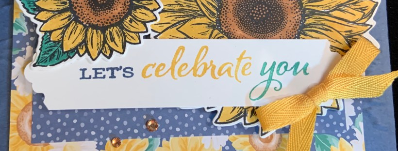 Closeup image of the Celebrate Sunflowers Sample card