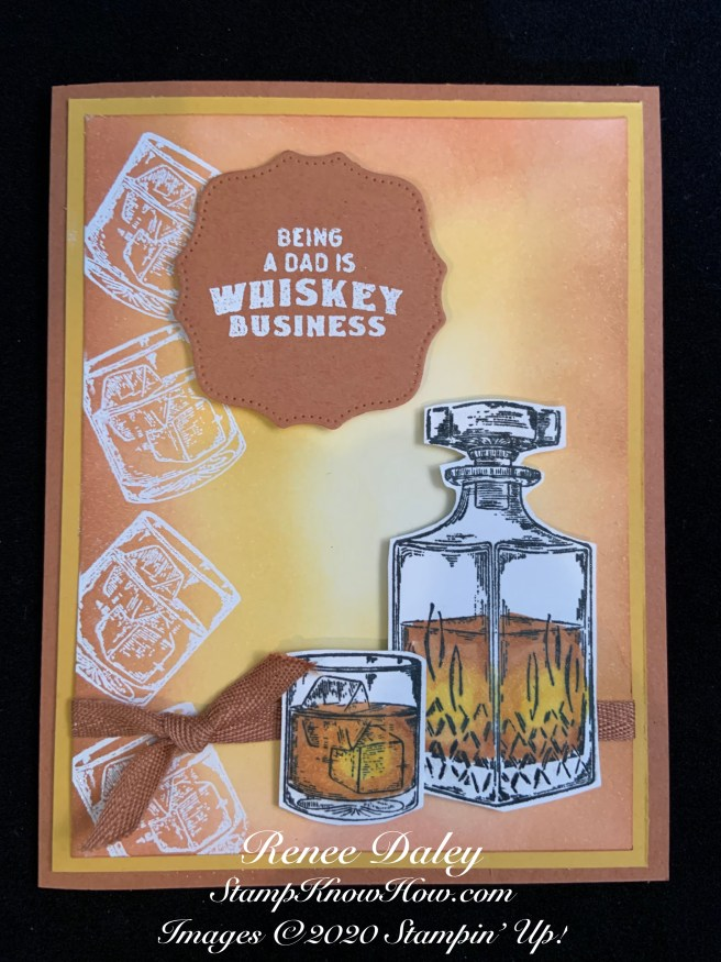 Image of Father's Day Card using the Whiskey Business Stamp Set