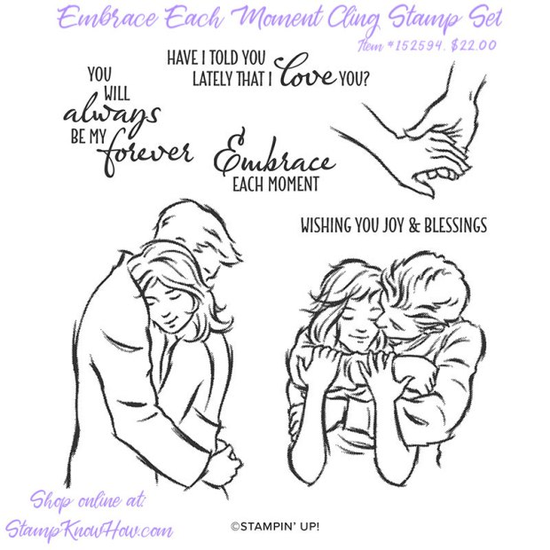 Stampin' Up Embrace Each Moment Cling Stamp Set