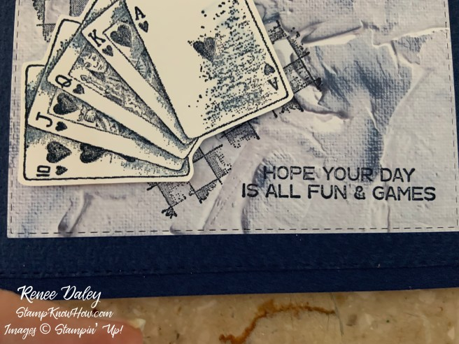 Close up image of the Game on Birthday Card Sample