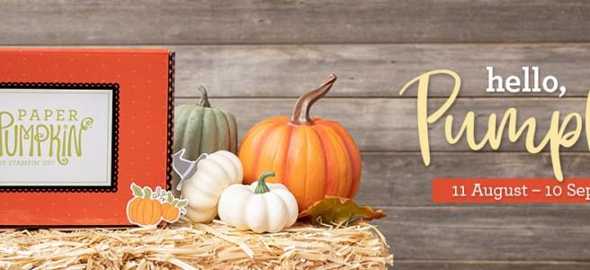 September 2020 Paper Pumpkin Kit