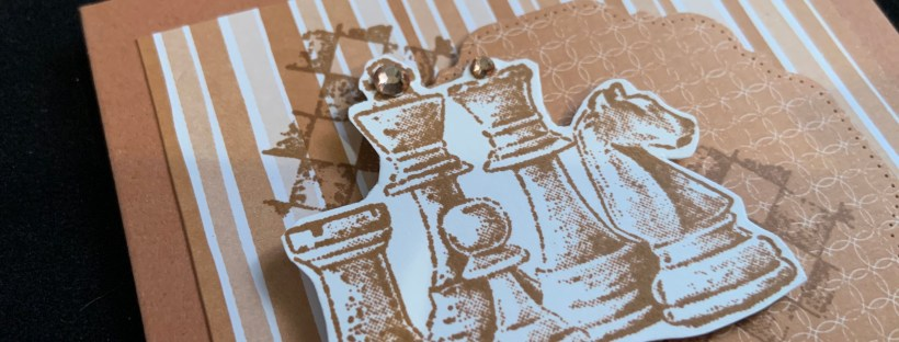 Game On Chess Pieces Birthday Card Closeup image