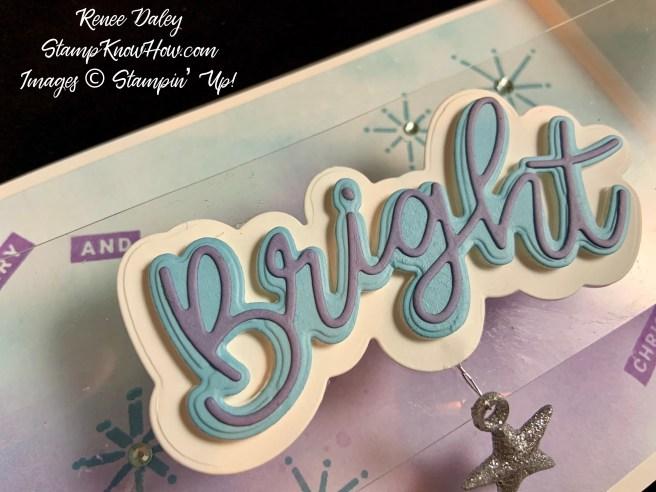 Close up image of the Peace & Joy Invisible Bridge Christmas Card