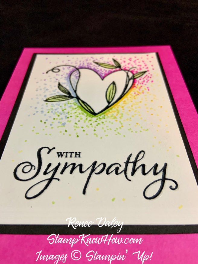 Dot Coloring Technique with the Touched My Heart Stamp Set