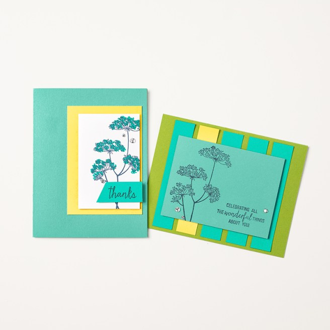 Queen Anne's lace Card Samples for Get & Go Recruitment Promotion