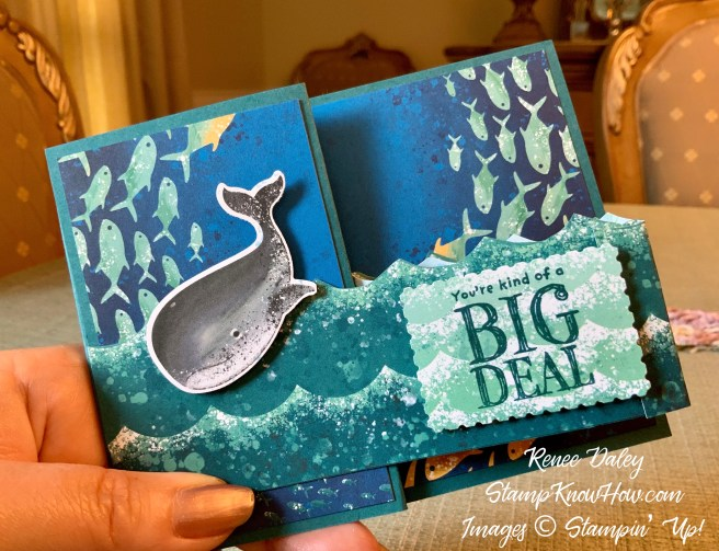 Whale of a Time Z-fold birthday card