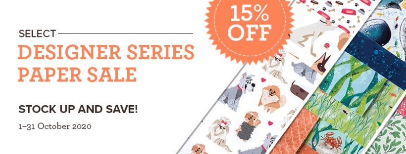 Stampin' Up Designer Series Paper Sale