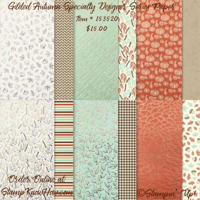 Gilded Autumn Specialty Designer Series Paper