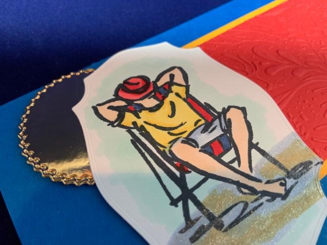 Close up image of the Good Man Birthday Card