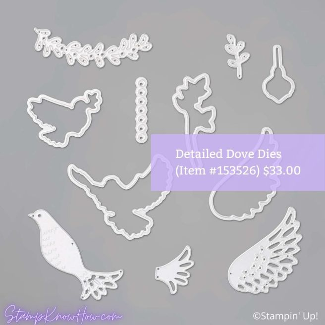 Stampin Up Detailed Dove Dies