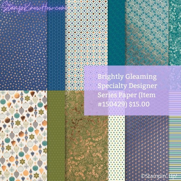 Brightly Gleaming Specialty Designer Series Paper by Stampin Up