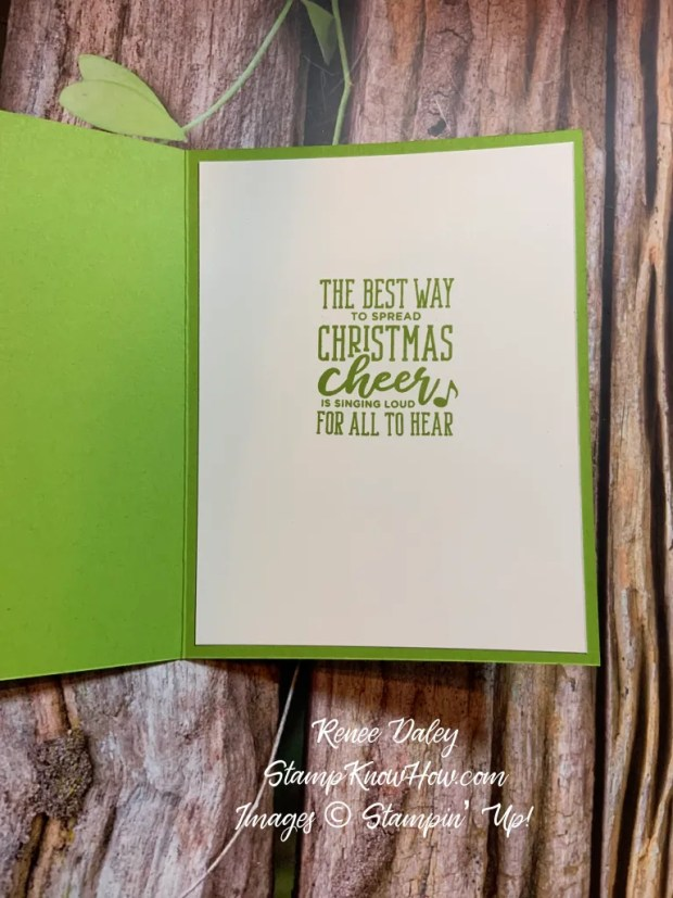 Inside view of the Tangled Elf Christmas Card