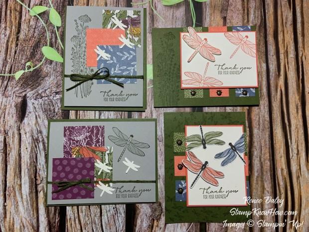 Dragonfly Garden Bundle Thank You Cards