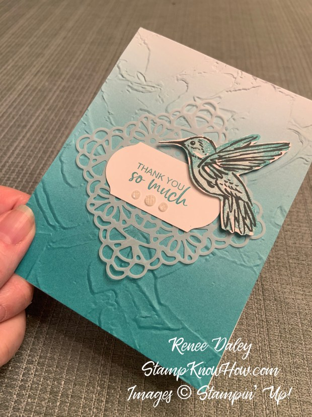 A Touch of Ink Thank You Card and coordinating gift box